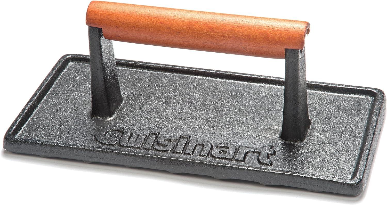 Cuisinart CGPR-221, Cast Iron Grill Press (Wood Handle): Garden & Outdoor