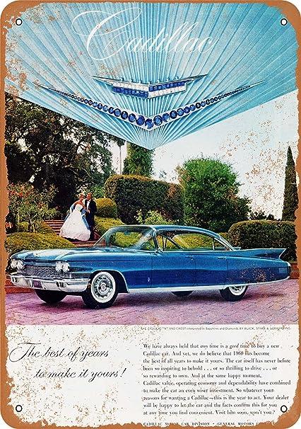 Amazon com: Wall-Color 10 x 14 Metal Sign - 1960 Cadillac Fleetwood