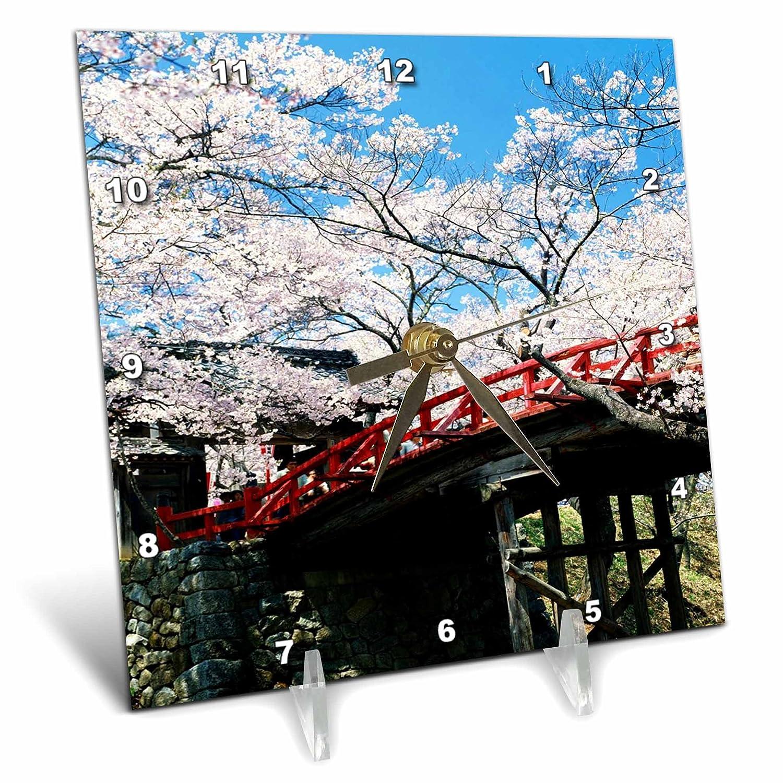 dc/_33140/_1 3dRose Florene Fllowers 6x6 Desk Clock Cherry Blossoms