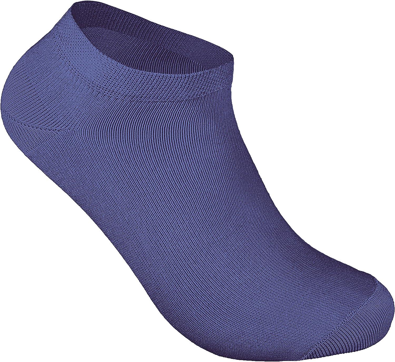 sockenkauf24 8 o 12 Pares de calcetines tobilleros deportivos Hombre Algod/ón Negro Azul Gris