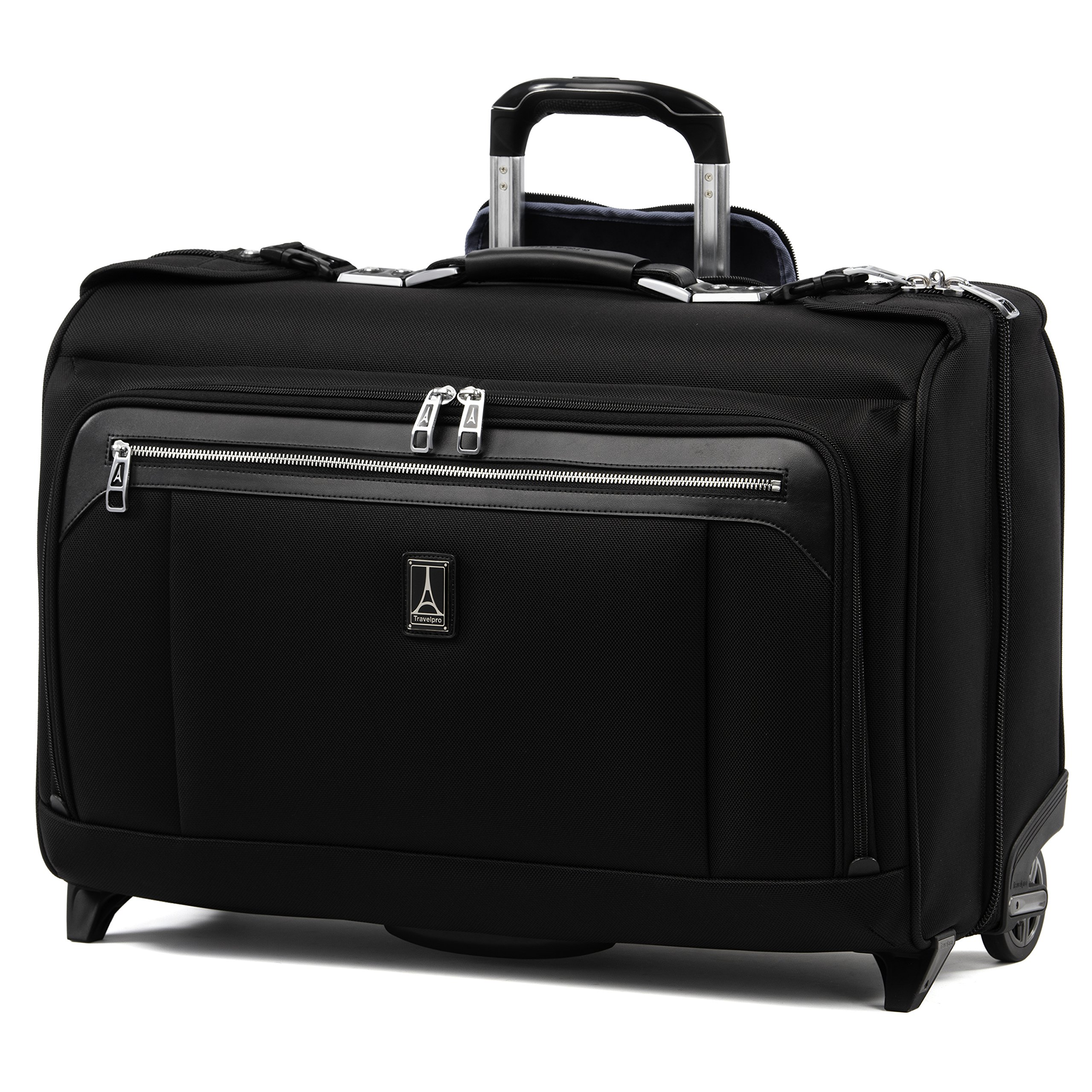 Travelpro Luggage Platinum Elite 22'' Carry-on Rolling Garment Bag, Suitcase, Shadow Black