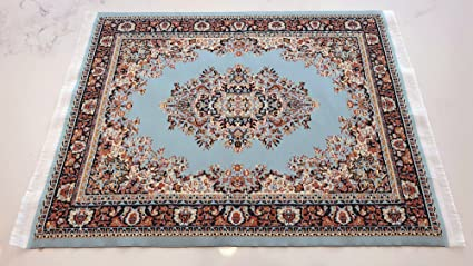 Set Of 2 Rug Placemats   Woven Carpet Table Mats   Dining Table Decor  Oriental Style