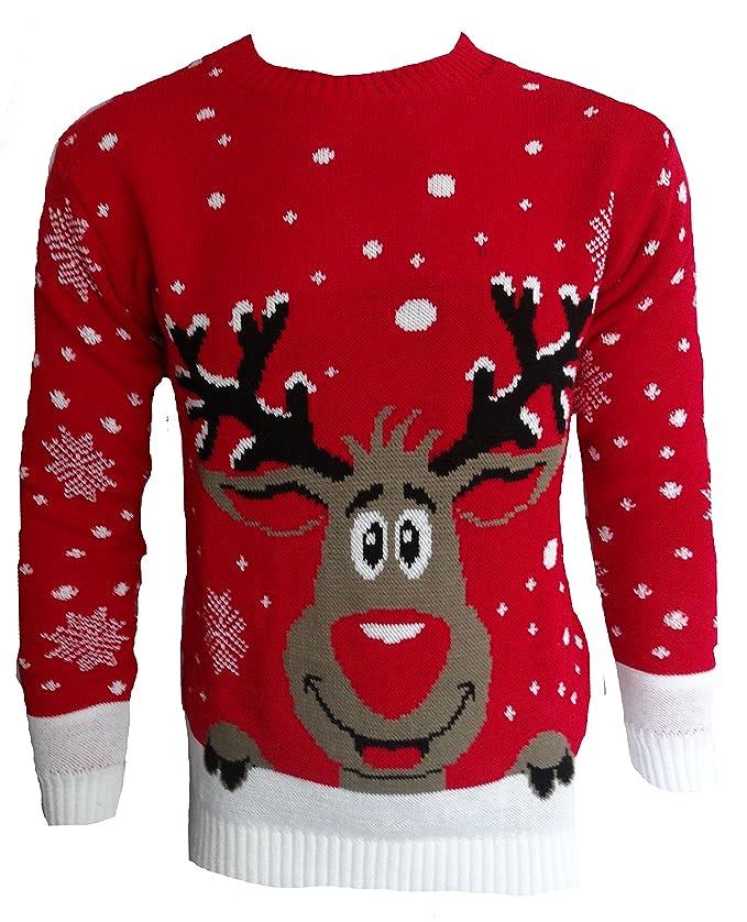 54 opinioni per Blush Avenue®, maglione a tema natalizio unisex, lavorato a maglia
