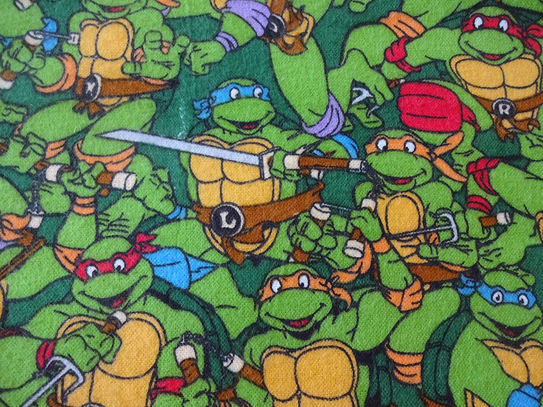 Big handmade detachable collar from vintage teenage mutant ninja turtles bedsheets