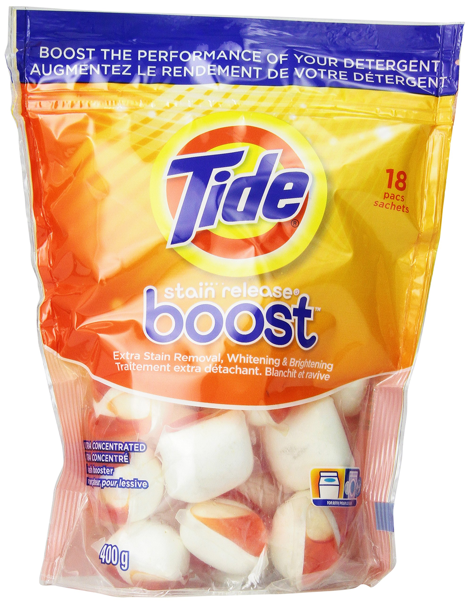 Tide Boost, 18 Pacs - Pack of 4