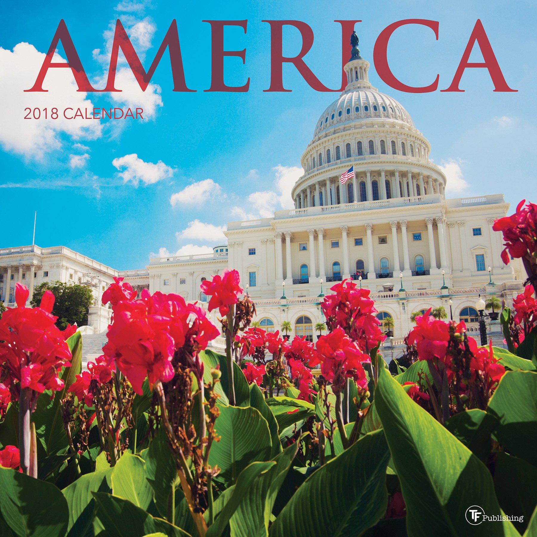 2018 America Wall Calendar