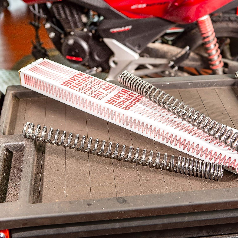 keine Reibung keine Ger/äusche WIRTH-Federn Polierte Motorrad Gabelfeder ABE 7080 1 Satz = 2 St/ück