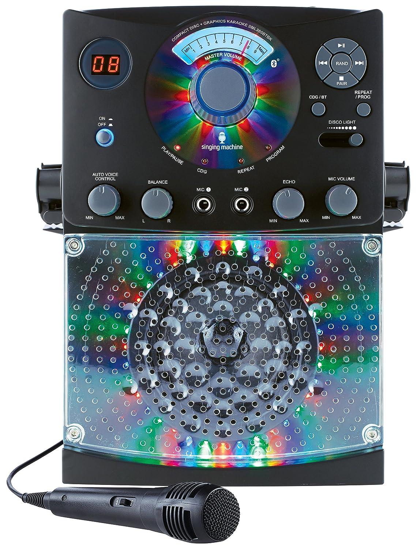 Singing Machine Bluetooth Karaoke System With Led Disco