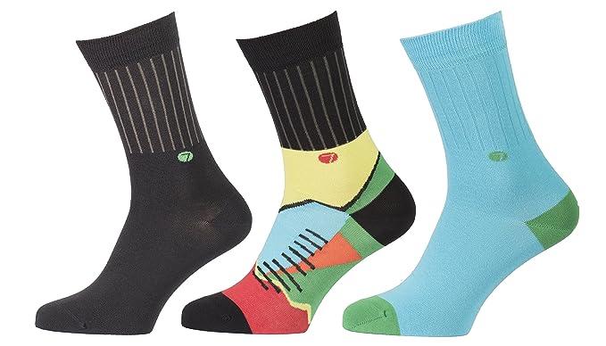 Calcetines para hombres, 3 pares, fabricados en la UE, usando máquinas italianas,