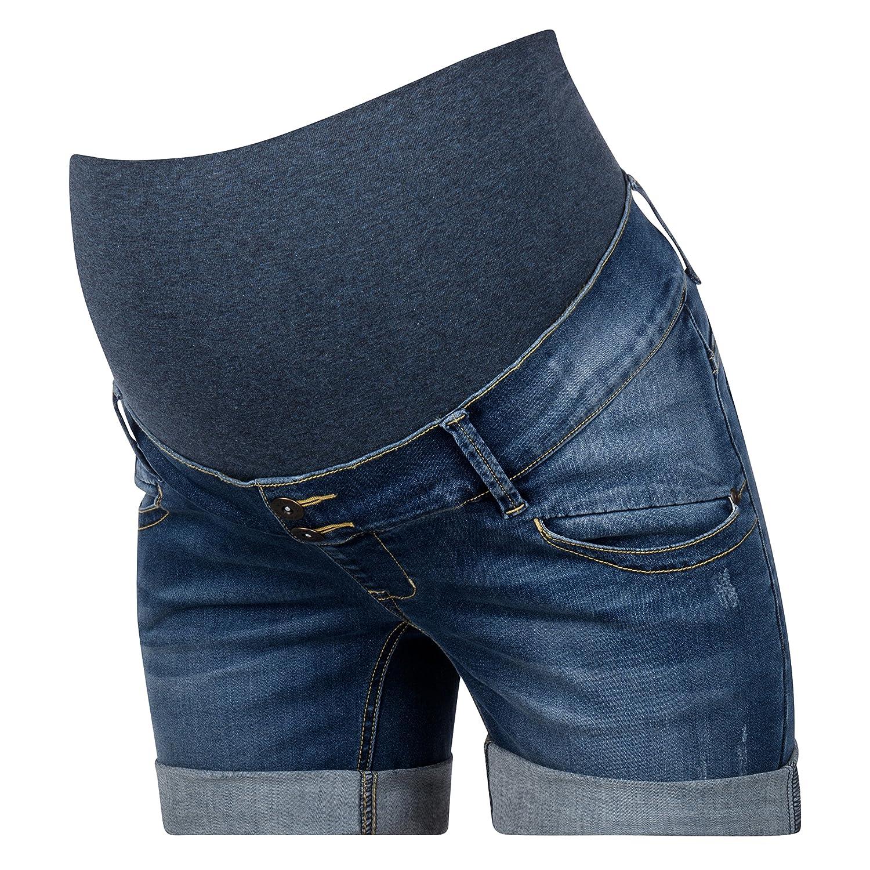 Umstandsshorts Jeans Umstandsjeansshorts weitenregulierbar von Love2Wait