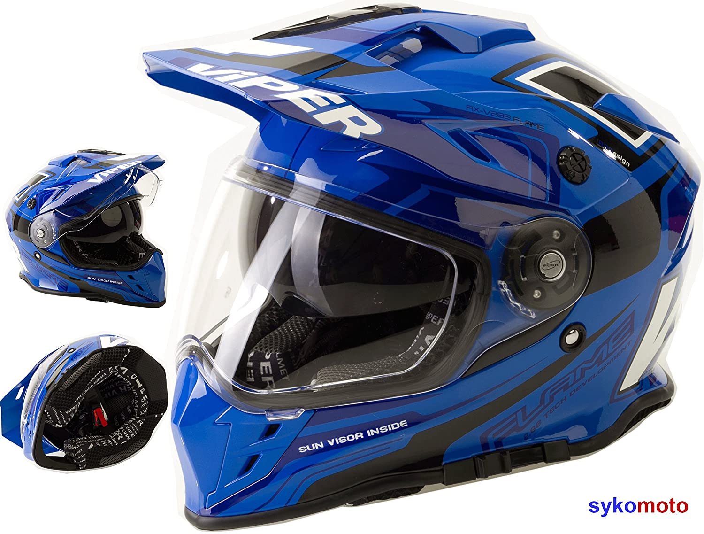 Amazon.es: Viper Moto VIPER RX-V288 MOTOCROSS ECE HOMOLOGADO INTEGRAL ADULTOS QUAD ATV CASCO DE MOTO AZUL (XL (61-62 CM))