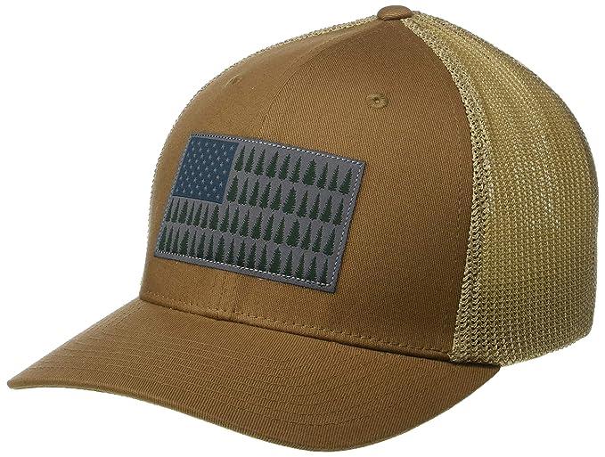 99e0d75d91a Amazon.com  Columbia Men s Mesh Tree Flag Ball Cap  Clothing