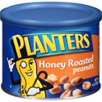 Planters Honey Roasted Peanuts, 10 oz Can (Pack of 6)