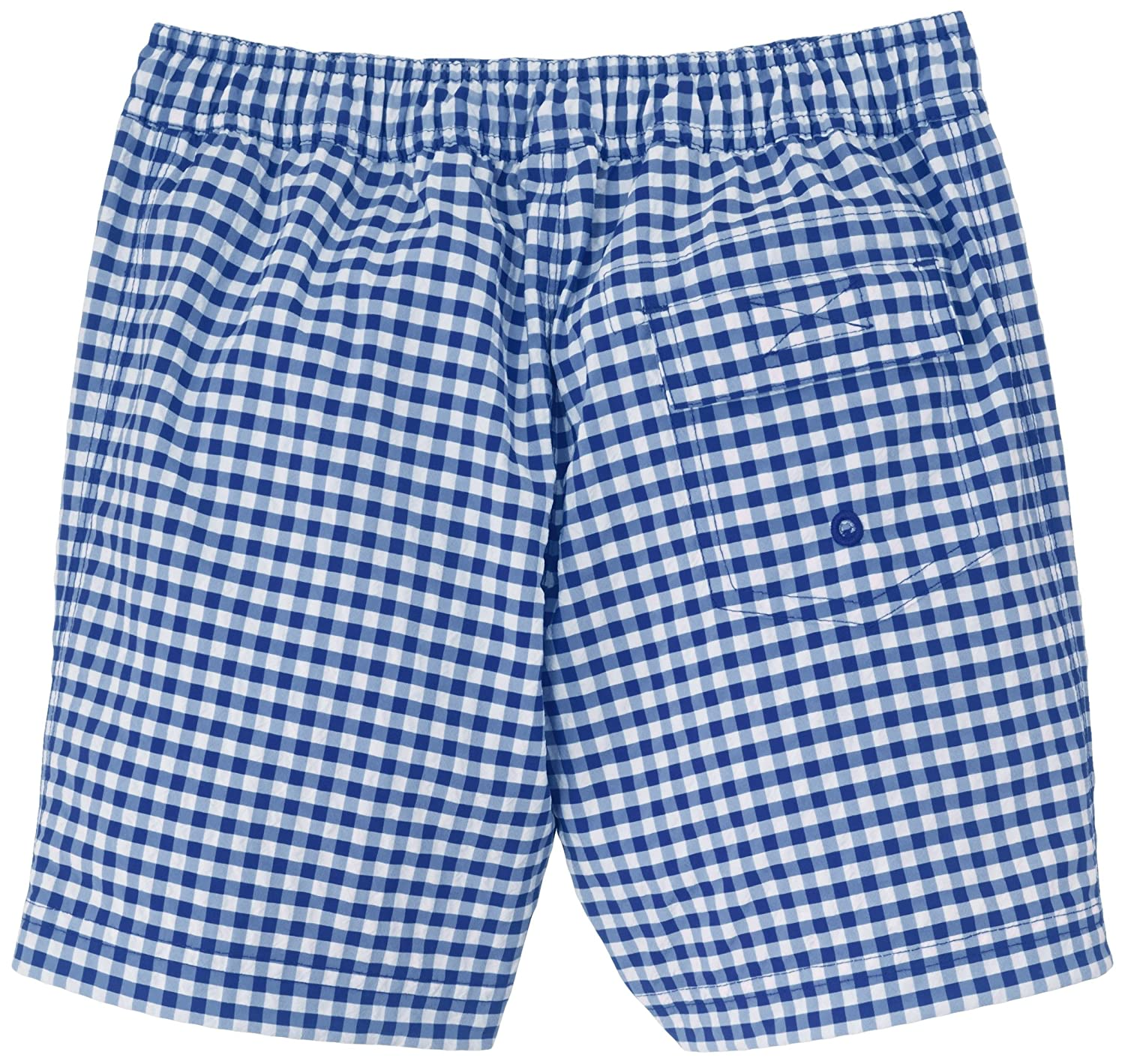 Blue//White-5 Years Petit Bateau Check Swim Shorts Toddler Kids