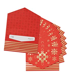 Amazon.com $10 Gift Card - Pack of 10 Mini Envelopes