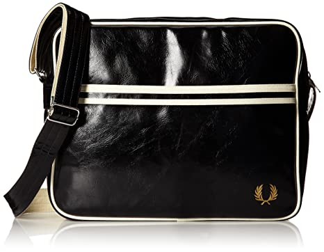 Amazon.com: Fred Perry Men's Classic Shoulder Bag, Black, One Size ...