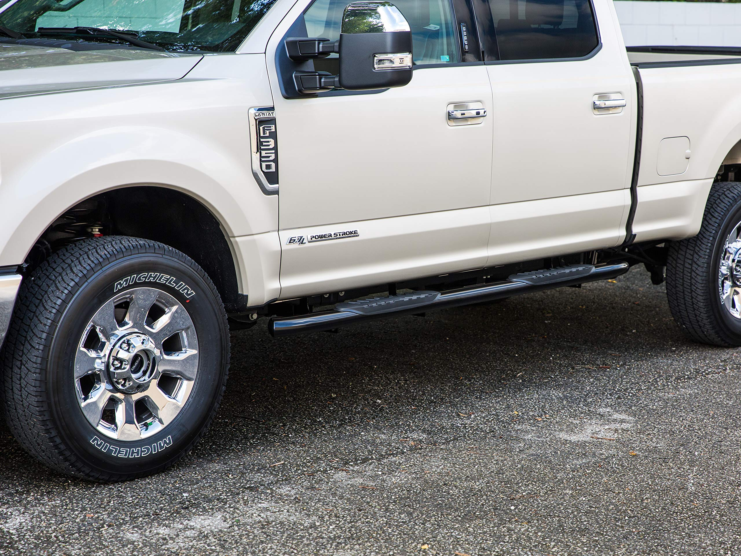 Ionic 5'' Black Steel Curved Nerf Bars (fits) 2019-Up Dodge Ram Crew Cab (New Body / 6 Lug Nut) Only Truck Side Steps (423709BP) by Ionic Automotive (Image #5)