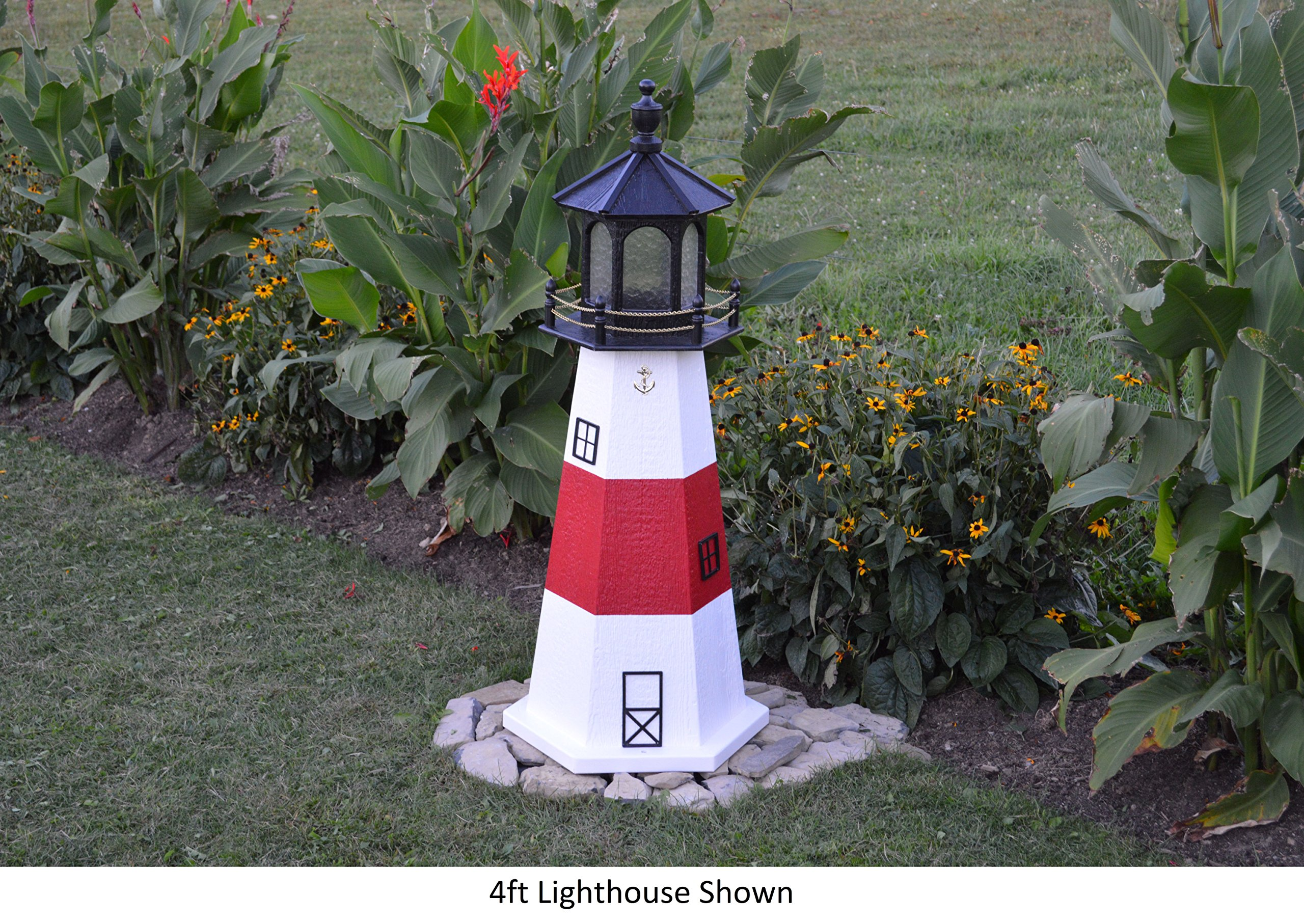 Amish-Made Montauk, NY Replica Lighthouse, 48'' Tall by Backyard Crafts