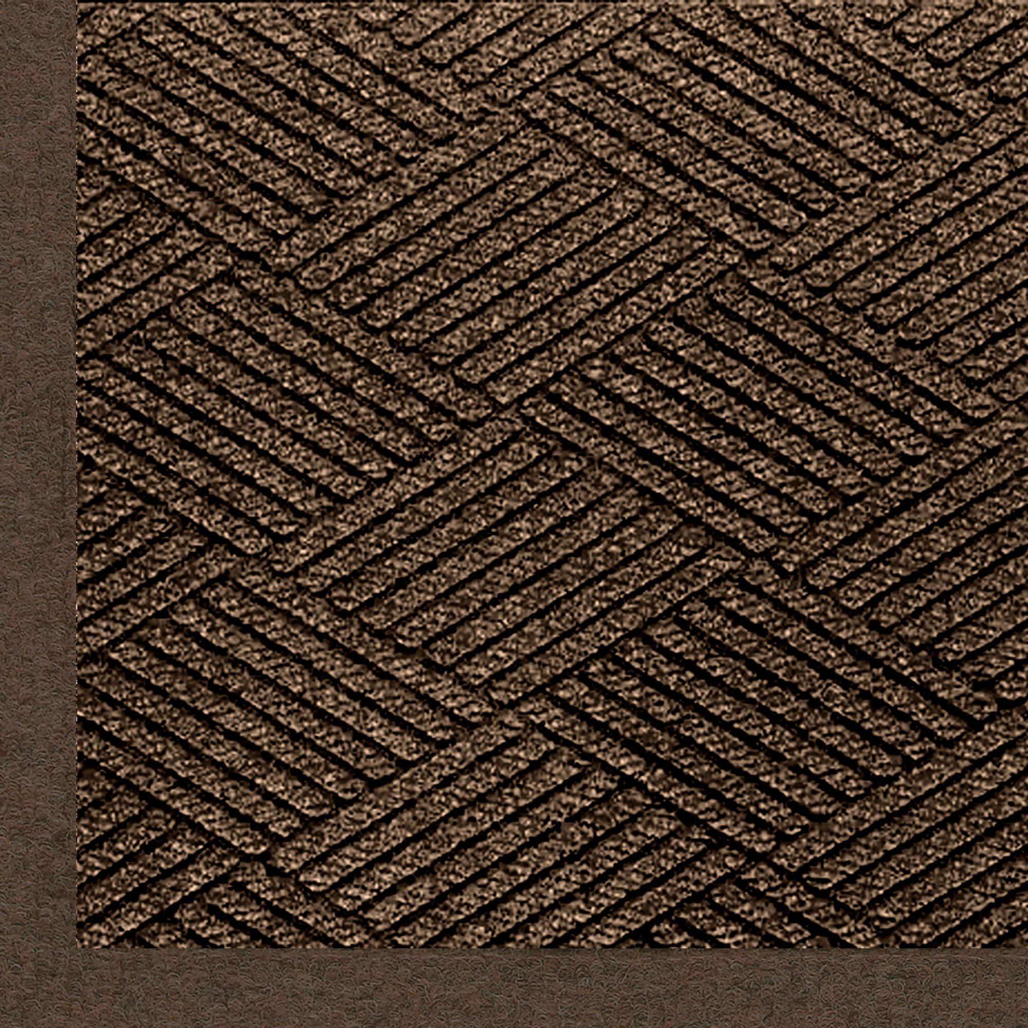 M+A Matting 2297 Waterhog Eco Premier Fashion PET Polyester Fiber Indoor/Outdoor Floor Mat, SBR Rubber Backing, 8.4' Length x 4' Width, 3/8'' Thick, Chestnut Brown