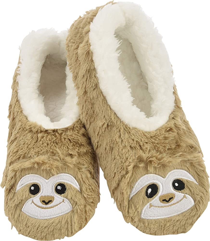 Snoozies Womens Slippers Animal Furry