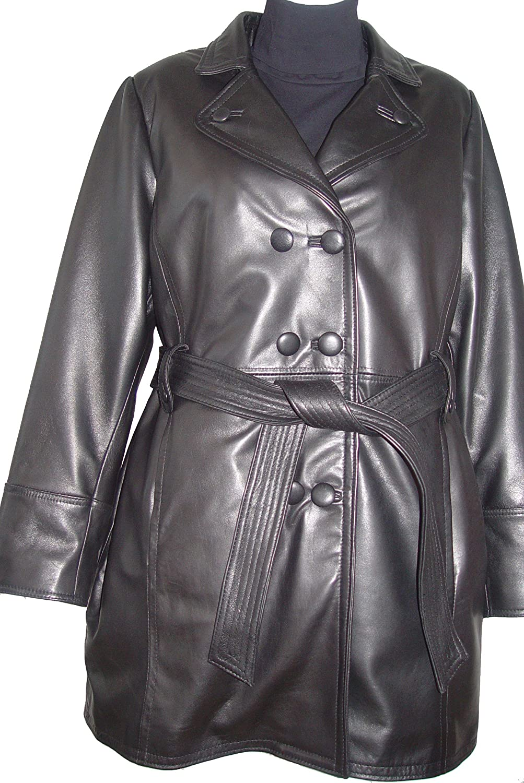 Johnnyblue 4 Saison Kleidung WoHerren 5006 Original- Real Lammskin Leder Trench Mantel