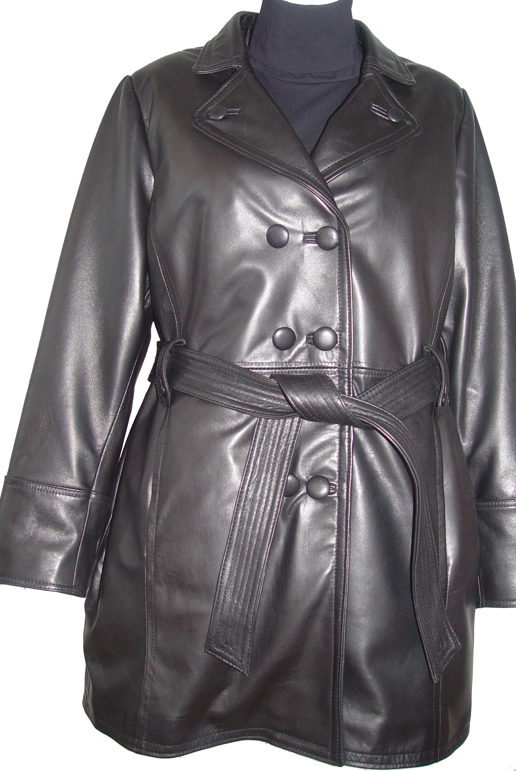 Johnnyblue 4 Season Wear Womens 5006 PETITE & ALL SIZELambskin Leather Trench Coat