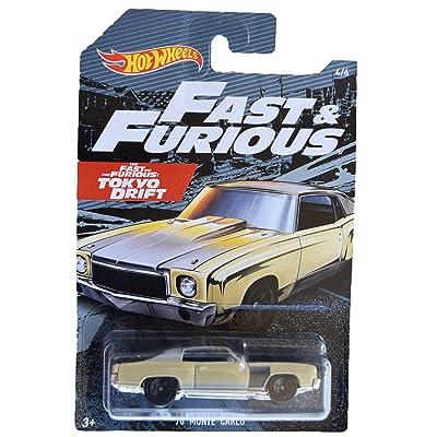 Hot Wheels Fast & Furious '70 Monte Carlo 4/6, tan: Toys & Games