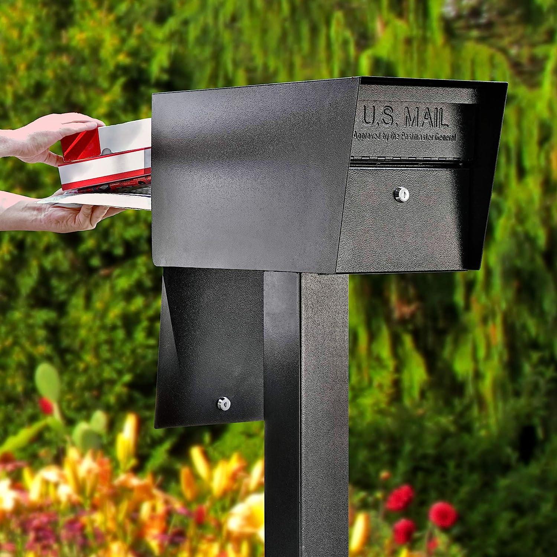 Mail Boss 7536 Street Safe Latitude Security Locking Mailbox, Black