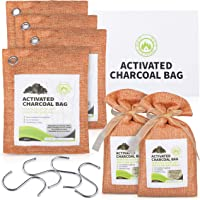 ECO FUTURE Bamboo Charcoal Bags *€* 6Pcs Enhanced Absorption Capacity Charcoal Air Purifying Bag*€* Clear Air Purifier…