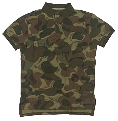 338004a6 Polo Ralph Lauren Mens Custom Fit Camouflage Military Rugby Shirt Green  (Medium) at Amazon Men's Clothing store: