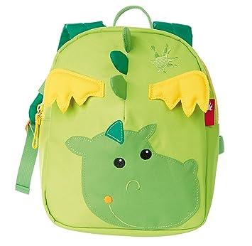 sigikid, Mädchen und Jungen, Mini Rucksack, Motiv Drache, Grasgrün/Grün,