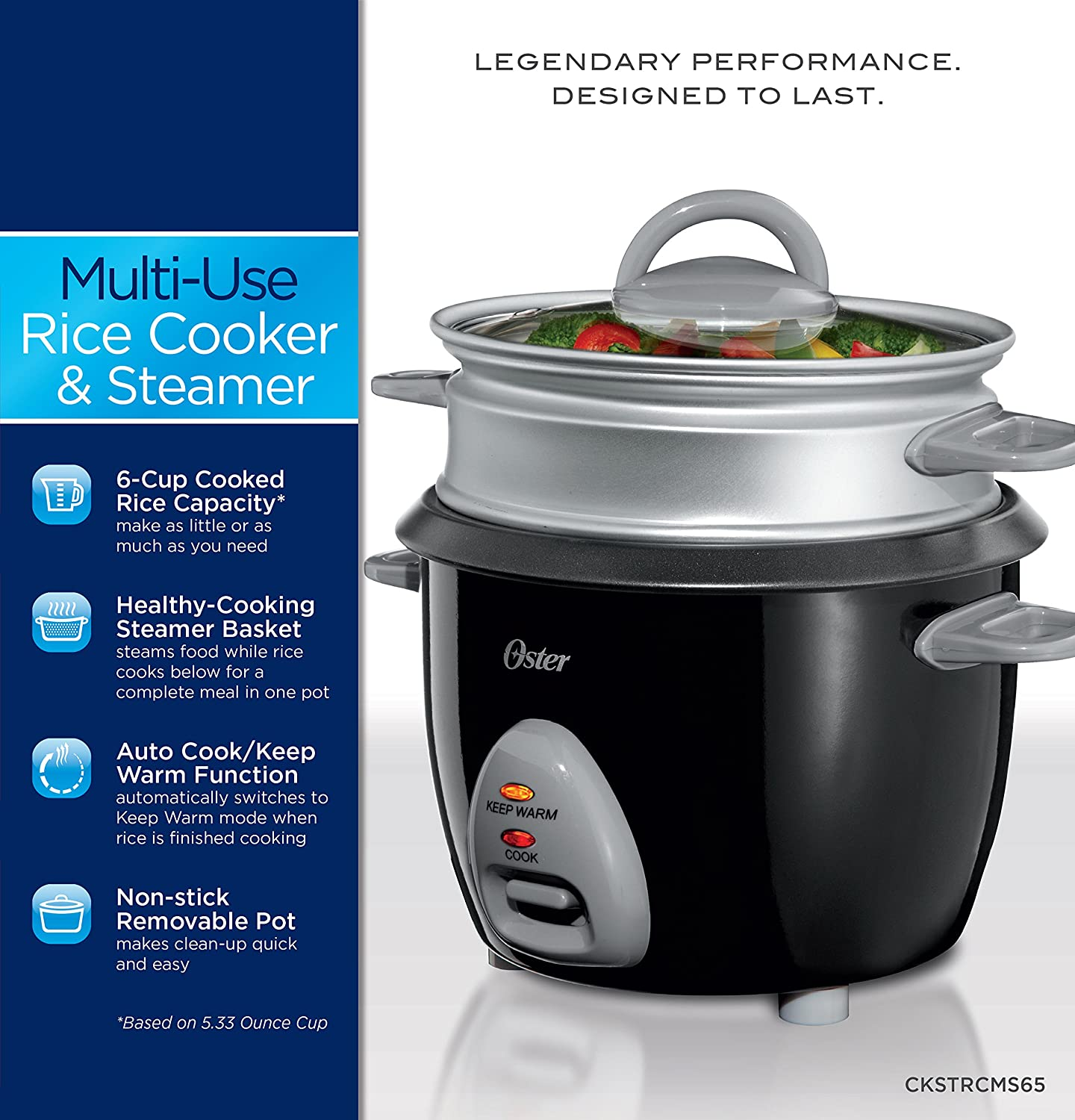 Amazon Oster 6 Cup Rice Cooker With Steam Tray Black