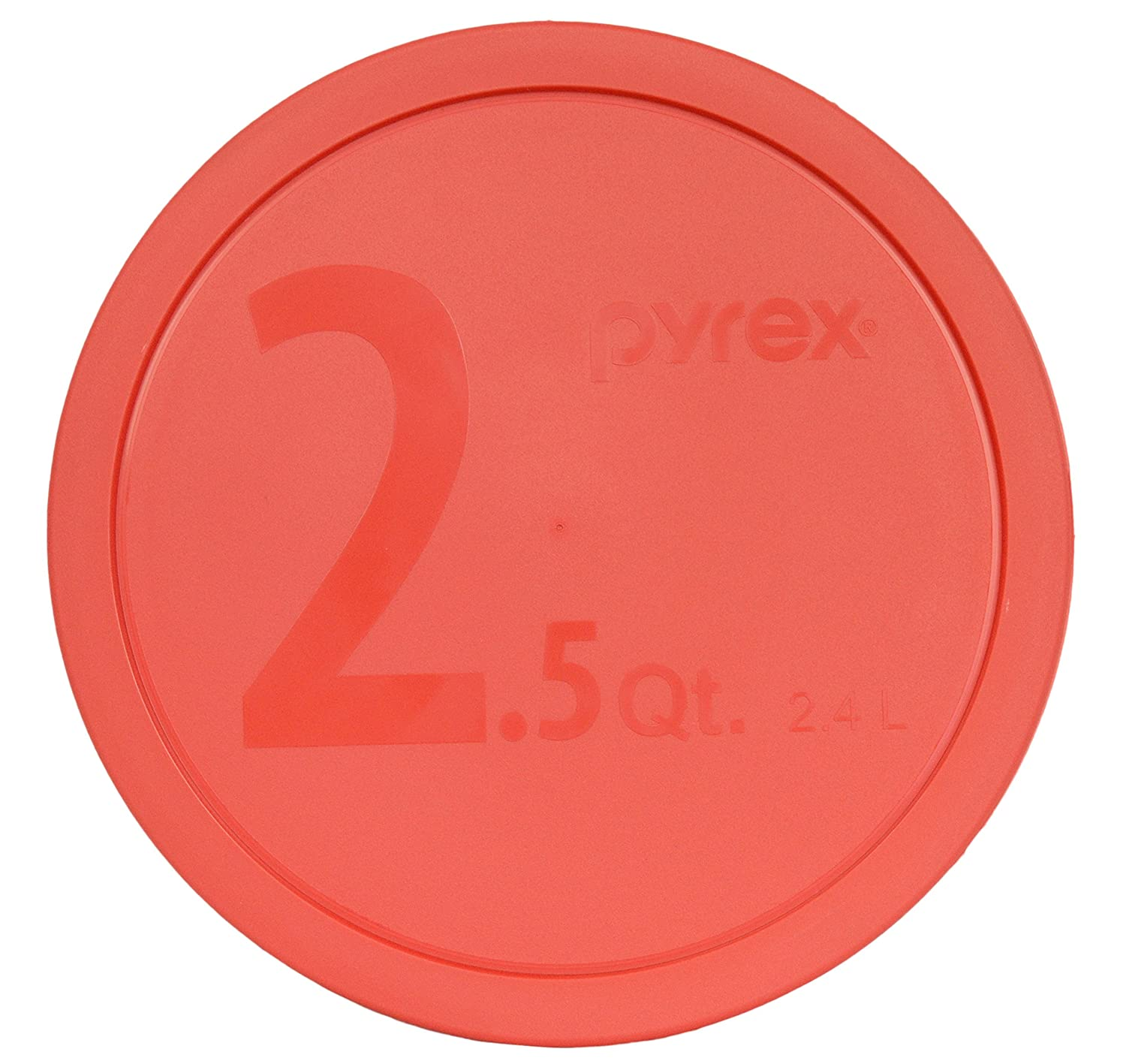 Pyrex 325-PC Round 10-inch Dia. Butterfly Orange 2.5-Quart (2.4L) Mixing Bowl Lid by Pyrex