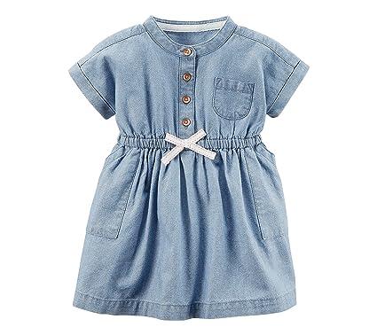 6f79838c3 Amazon.com: Carter's Baby Girls' Chambray Shirt Dress: Clothing