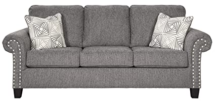 Amazon Com Benchcraft Agleno Contemporary Sofa With Nailhead Trim