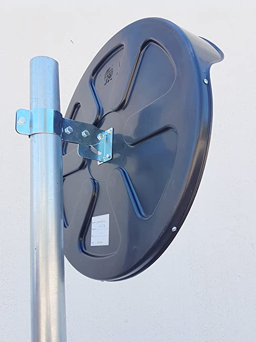 ECM-60-B2-o Espejo de seguridad convexo para garantizar la seguridad en calles y en tiendas con soporte de fijaci/ón ajustable para poste de 60 mm de color negro de 60 cm de di/ámetro