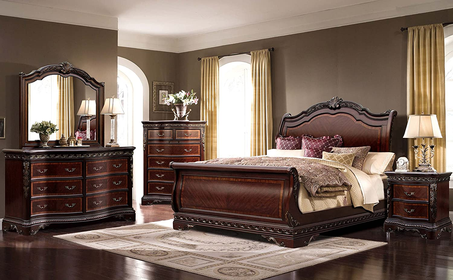 Great Sleigh Bedroom Sets Interior