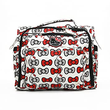 5bba05521 Ju-Ju-Be Hello Kitty Collection B.F.F. Convertible Diaper Bag, Peek A Bow