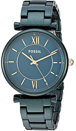 3013290ea Fossil Women's Carlie Quartz Stainless Steel Dress Watch Color: Green  (Model: ES4427)