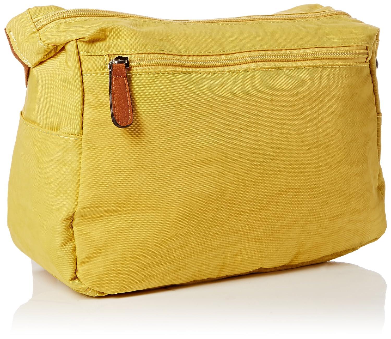 bandolera Talla Sintético Unica Bolso de talla Mujer color Amarillo Uwnv0OqA