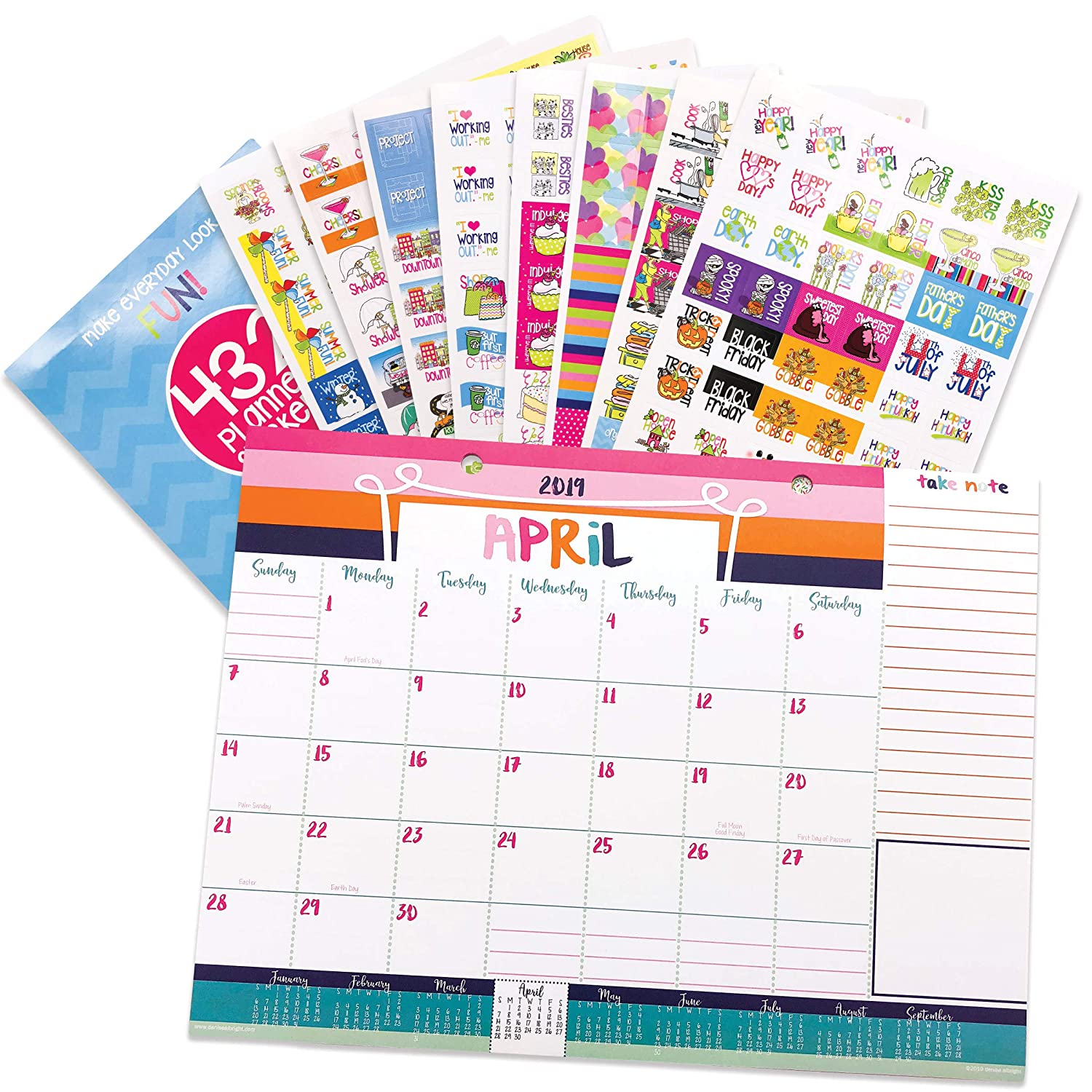Gift Ideas 16 Year Old Brother Hanukkah 2020 Amazon.: 2019 2020 Monthly Desk Calendar 18 Month + Event