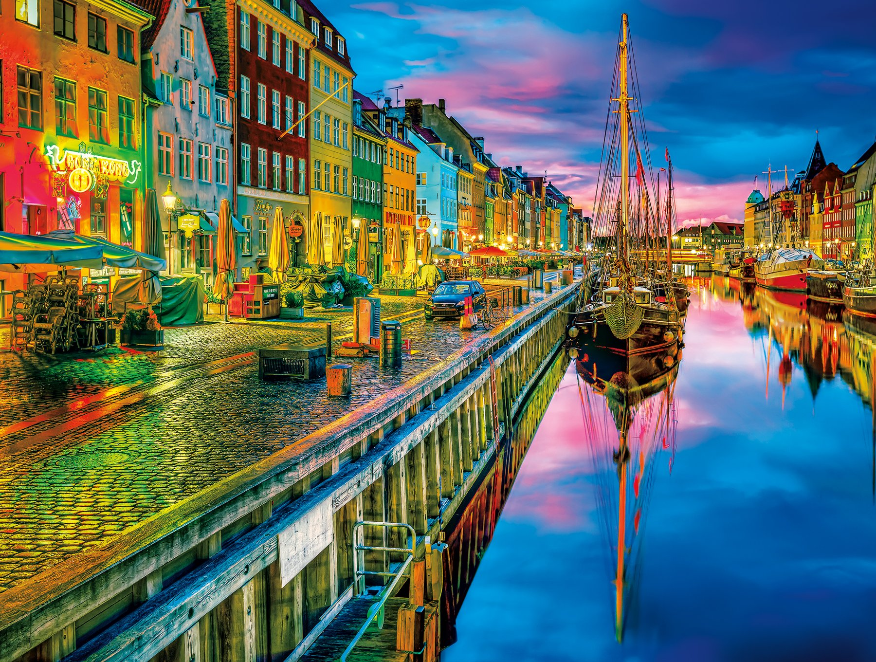 Buffalo Games - Cities in Color - Copenhagen - 750 Piece Jigsaw Puzzle