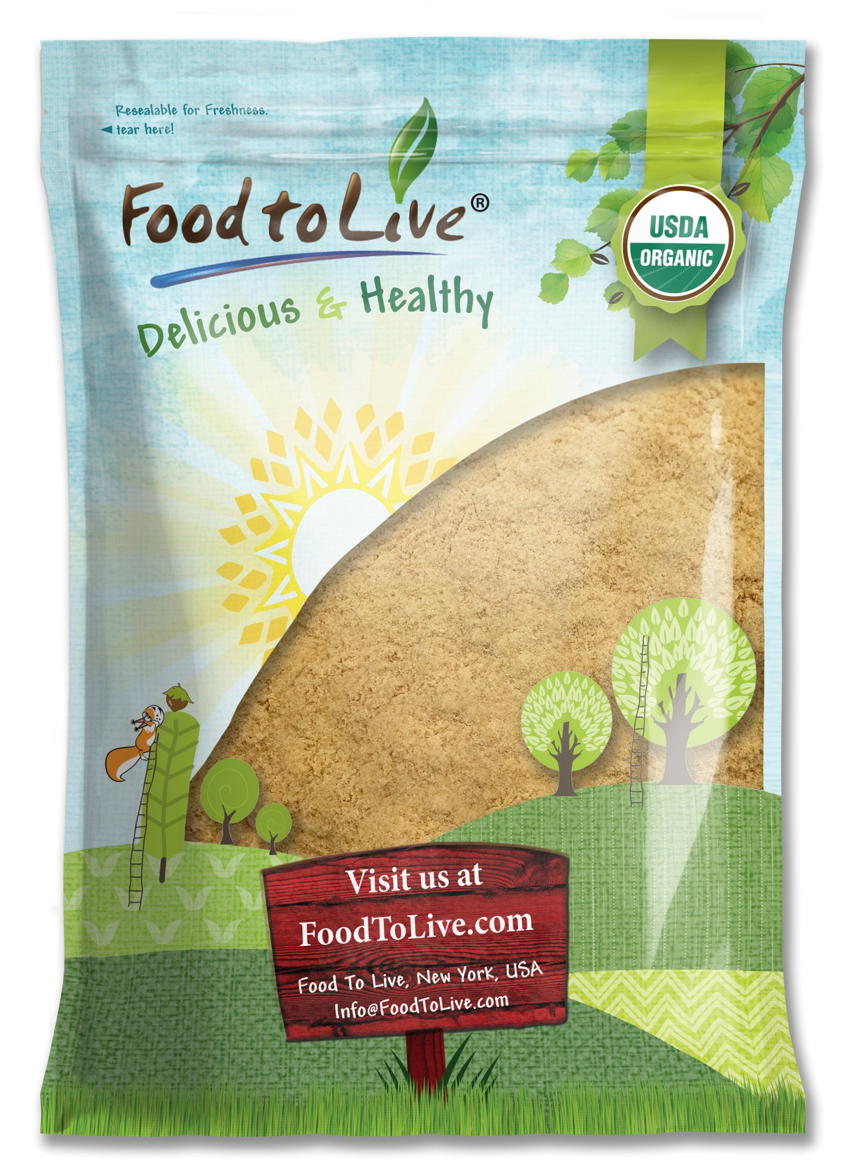 Food to Live Certified Organic Maca Root Powder (Non-GMO, Kosher, Raw Ground Maca Root, Flour, Bulk) (8 Pounds)
