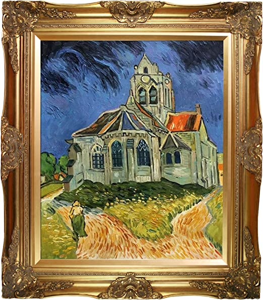 "The Church At Auvers by Vincent Van Gogh 24/"" x 32/"" Oil Painting Reproduction"