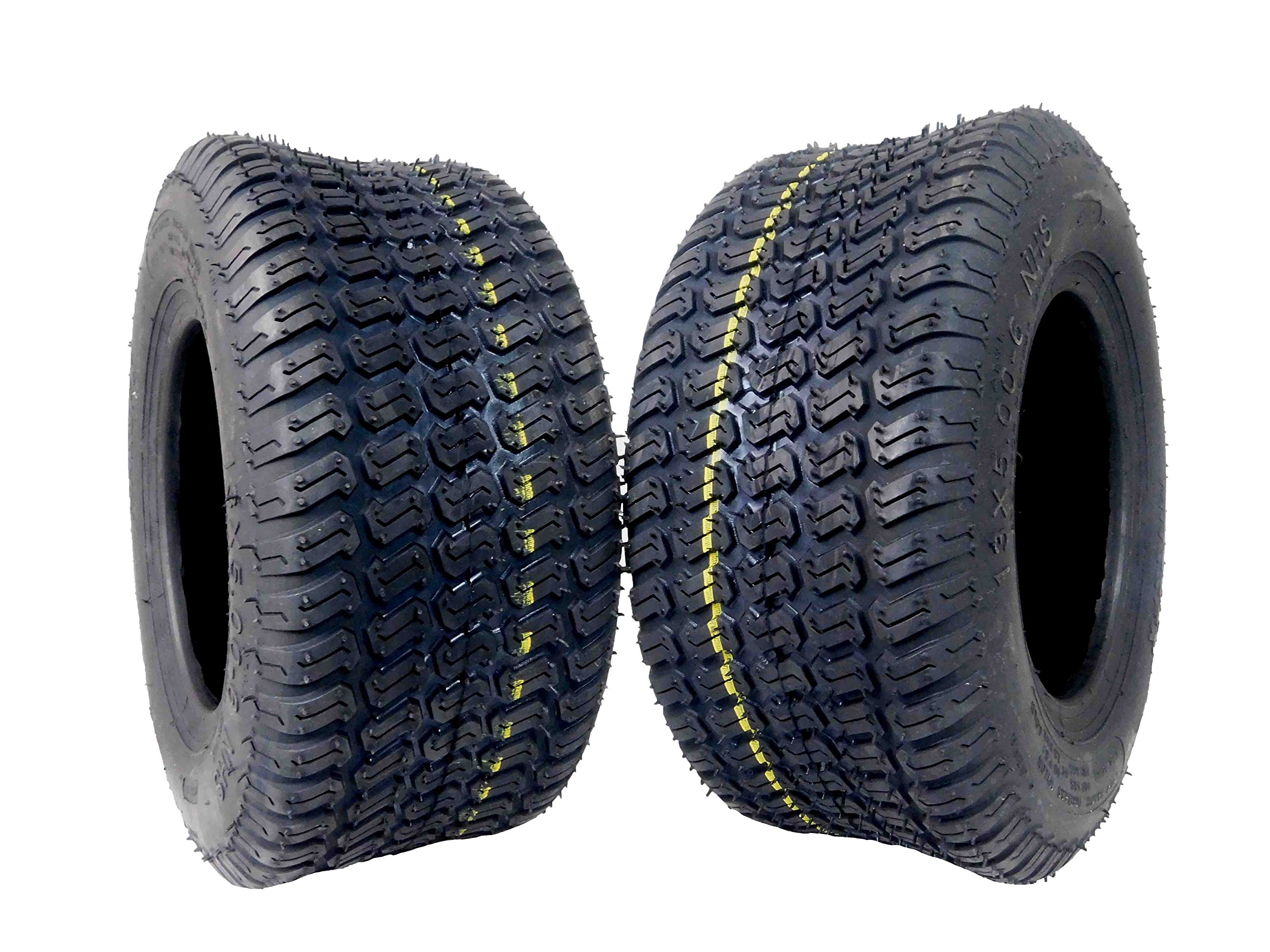 MASSFX Lawn Mower and Garden Tires 13x5-6 MO1356 4 PLY 3mm Tread 2 Tire Set