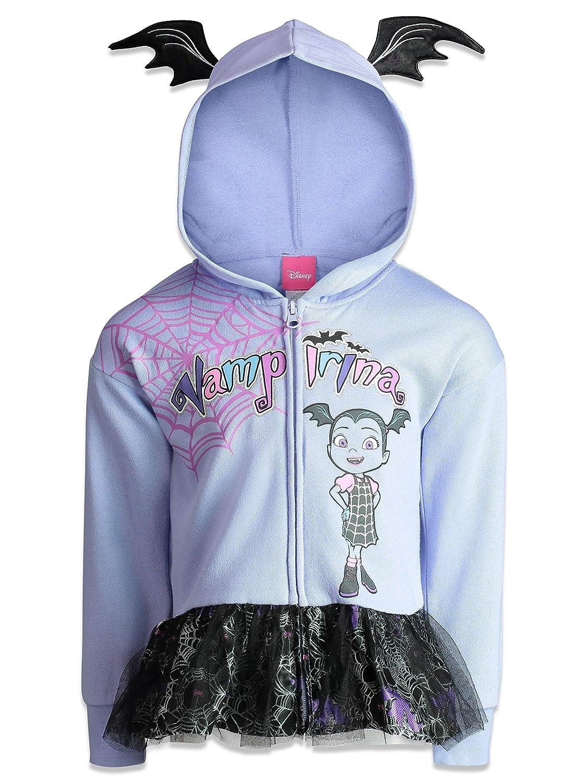 7c4463942 Amazon.com  Disney Vampirina Girls  Zip-up Hoodie Ruffle French ...