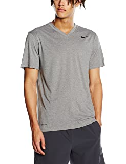 622508c7 Nike Mens Legend V-Neck Training T-Shirt Carbon Heather/Black 624314-