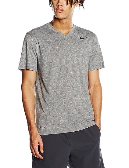 a94af208 Amazon.com: Nike Mens Legend V-Neck Training T-Shirt Carbon Heather/Black  624314-091 Size Small: Sports & Outdoors