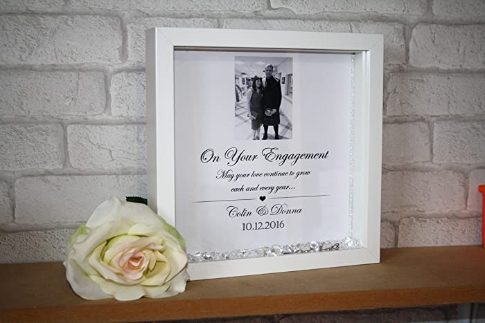 engagement frame engagement gift personalised engagement personalised frame gift for couples - Engagement Photo Frame