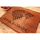Game of Thrones Dinner is Coming Engraved wooden Cutting Board